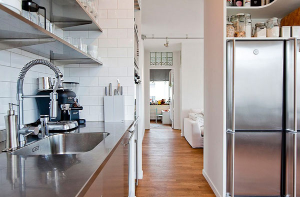 Просторная и все же очень удобная квартира в Стокгольме