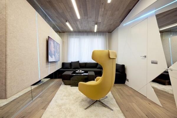 Эксцентричная гостиная для семьи музыкантов от дизайнеров из Geometrix