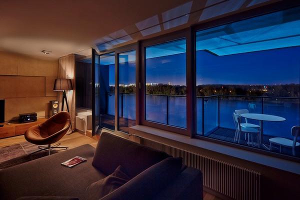 Меньше блеска, больше стиля: Братислава квартира Riverpark