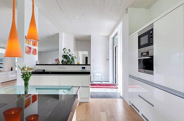 Креативные детали в современном доме в Стокгольме