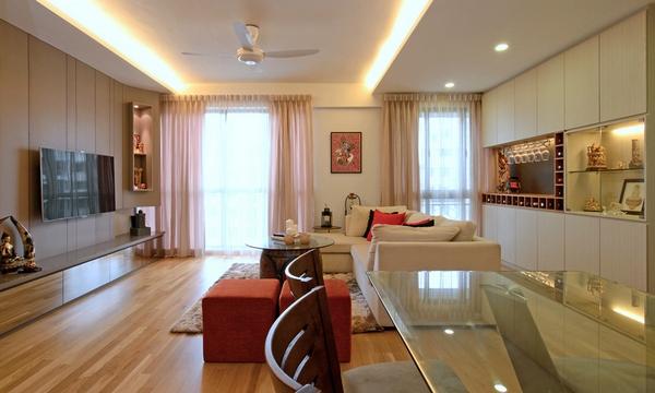 Уютный современный дом в Сингапуре, разработанный для семейной пары