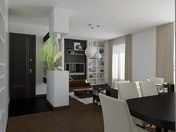 Дизайн с умом продемонстрирован на примере модных московских апартаментов