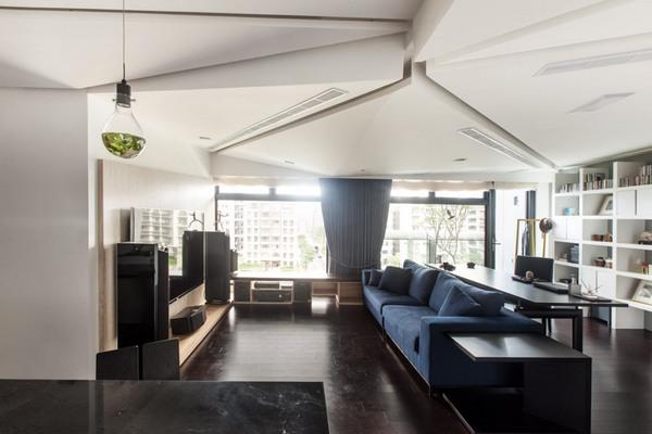 Высокий уровень интерактивности, сосредоточенный в стильном современном доме в Тайване