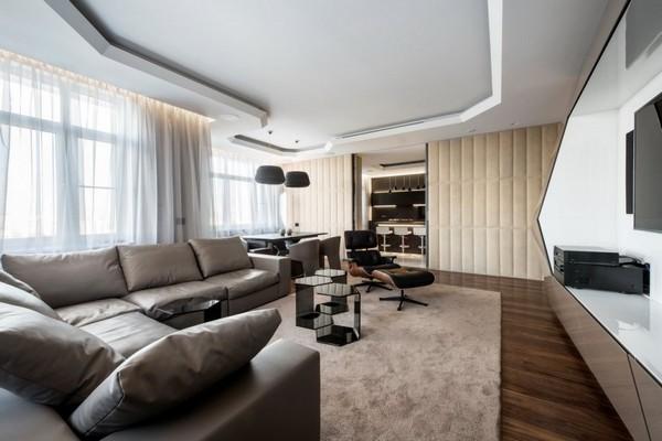 Футуристический подход к интерьеру современной московской квартиры