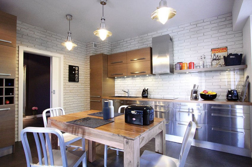Квартира в Варшаве - индустриальный стиль интерьера