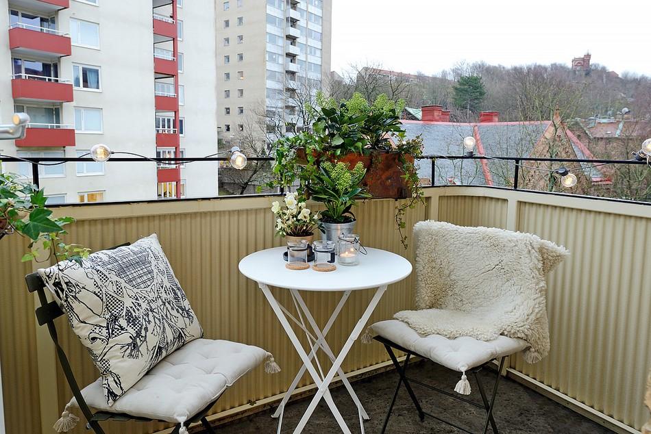Яркая квартира с двумя комнатами в Швеции