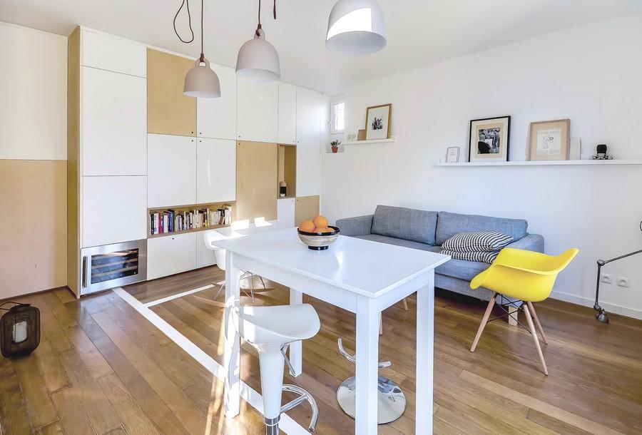 Маленькая квартира молодой пары в Париже