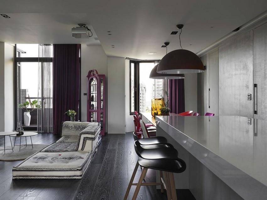 Игра цвета, воспроизводящего радостные воспоминания в Тайбэйской квартире