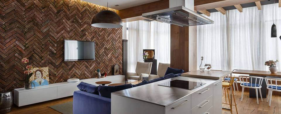 Креативный интерьер украинской квартиры