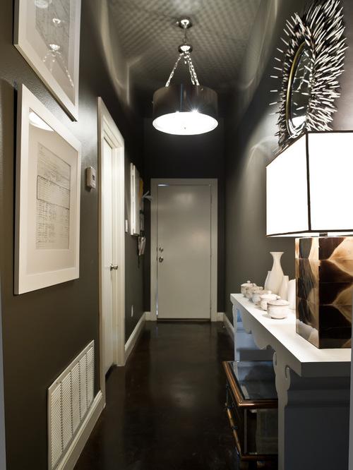 Дизайн интерьер узкого коридора