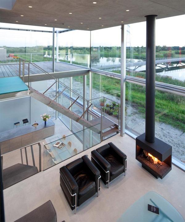 Современный дом на окраине Амстердама