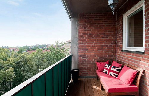 Элегантная угловая квартира в Швеции