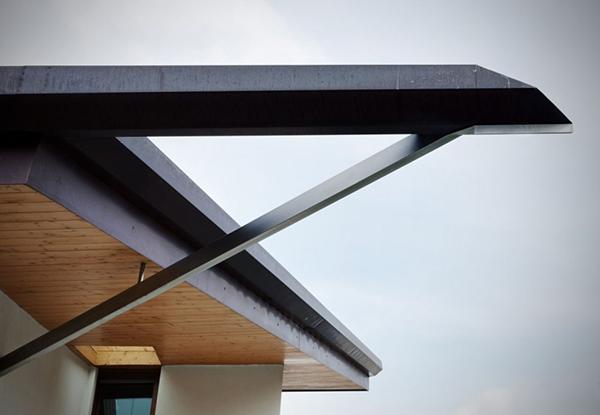 Объемный дом, интегрирующий деревянные элементы