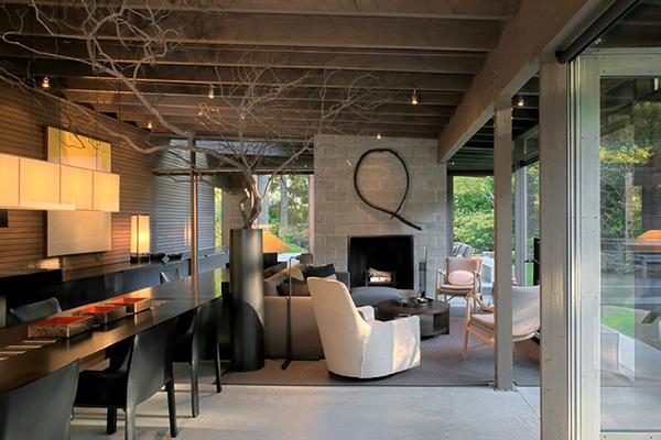 Дом для релакса с очаровательными естественными деталями