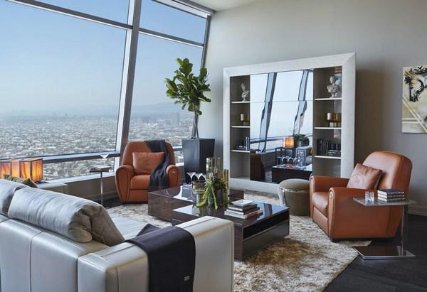 Поразительный Пентхаус на 50-м этаже отеля Ritz-Carlton в Лос-Анджелесе