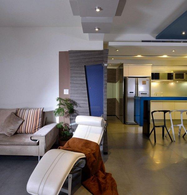 Современный дизайн квартиры для холостяка в Тайбэе.